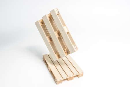 White wooden pallets