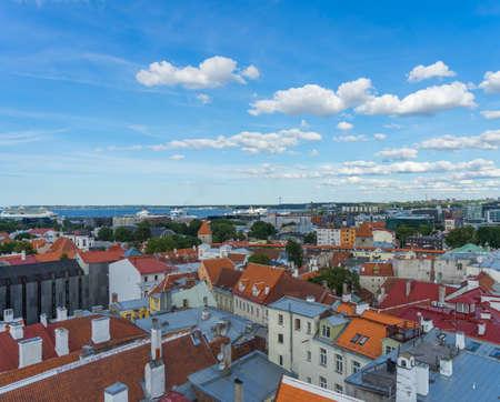 Beautiful panoramic view of the Old Town in Tallinn Estonia