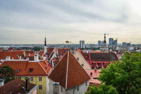 view of city Tallinn Estonia