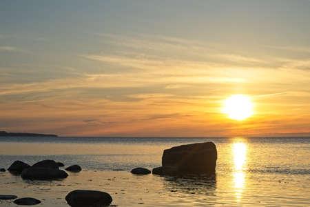 Beautiful sunset at the sea Stock Photo