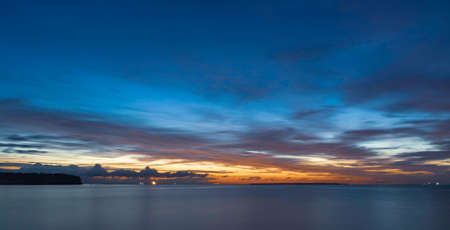 Beautiful Baltic Sea with long exposure after sunset