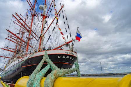 ESTONIA, TALLINN 22.09.2018 Russian sailboats