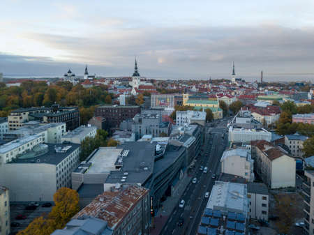 Aerial of city Tallinn, Estonia Stock Photo - 109801454