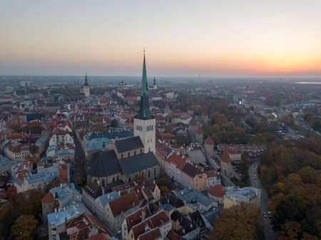 Aerial of city Tallinn, Estonia