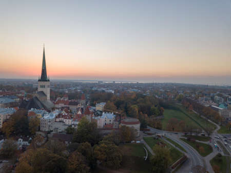 Aerial of city Tallinn, Estonia