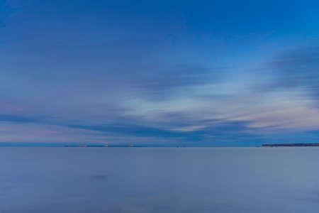 Beautiful sea with long exposure Stock Photo