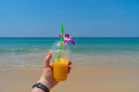 Cocktail on the beach Фото со стока