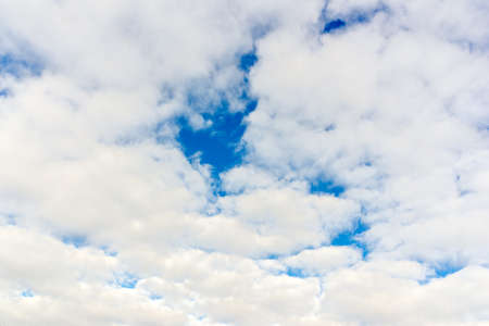 Cloud and blue skay background.Dramatic nice white clouds on a blue heaven.