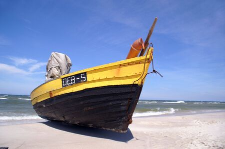 Fishboat at beach from Poland photo