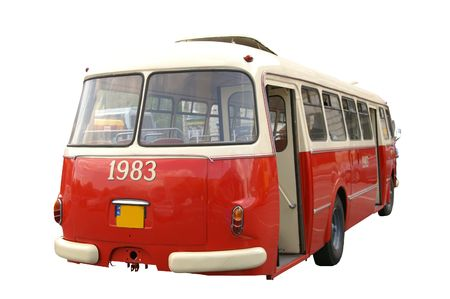 Very old bus from Poland Stock Photo - 3263127