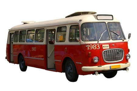 old bus: Very old bus from Poland Stock Photo