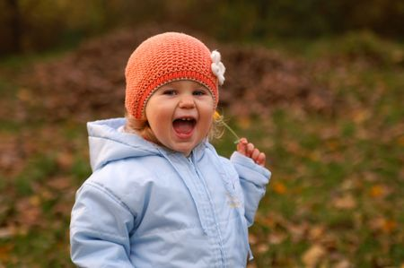 exult: happy baby and autumn