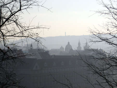 Prague through the mist Banco de Imagens - 283194