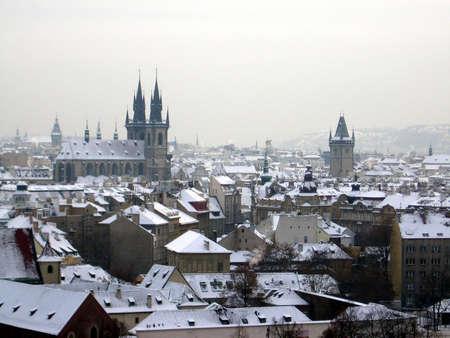 Snowy Prague Banco de Imagens