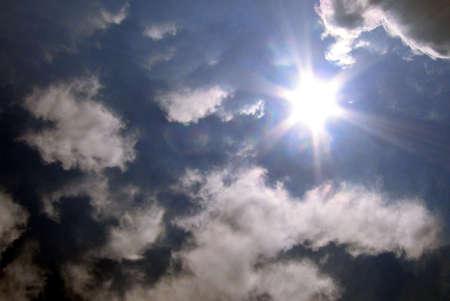 Sun and clouds Banco de Imagens