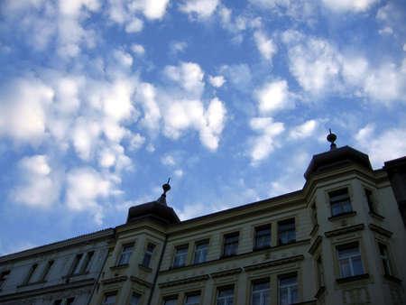 clouds and spires Banco de Imagens - 356101