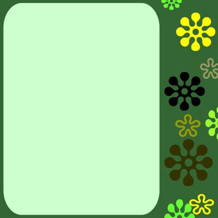 Retro flower template
