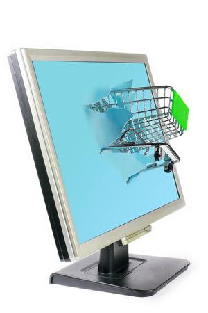 shop car and computer photo