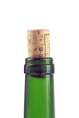 closed corks: Bottle and cork Stock Photo