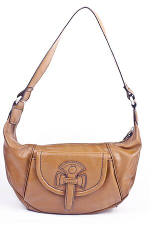 leather bag: woman leather bag Stock Photo