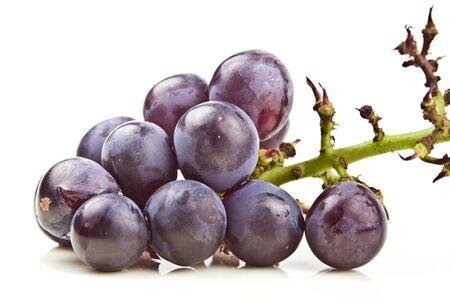 grape cluster: Fresh grape cluster on white background Stock Photo
