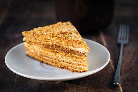 honey cake: Russian honey cake, medovik