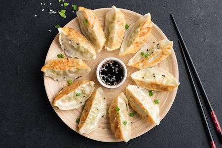 Chinese fried dumplings Gyoza or Jiaozi