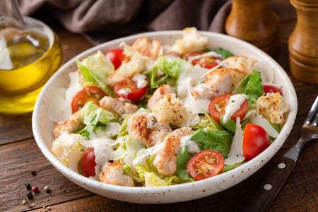 Salad with grilled chicken Caesar Banco de Imagens