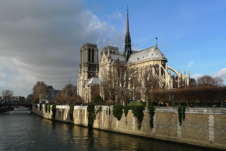 Catholic church in the center of Paris, one of the symbols of the French capital Stock Photo