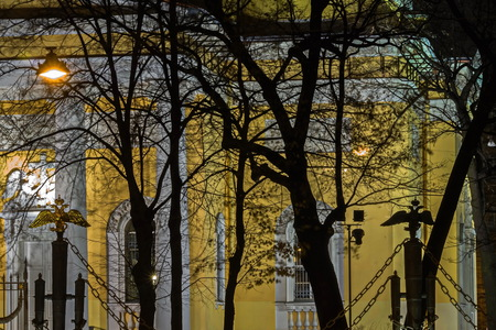 The Transfiguration Cathedral. Old heritage of St. Petersburg.