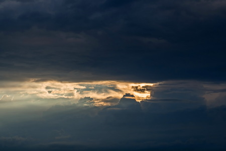 The sky is in anticipation of a thunderstorm over lake Peipsi. Last rays break through Фото со стока