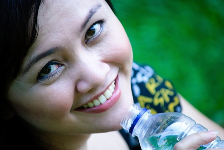 drinking mineral water photo