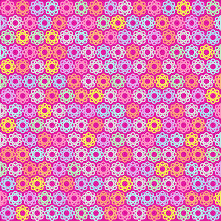 The Colorful Flower Design In Pink Background Imagens
