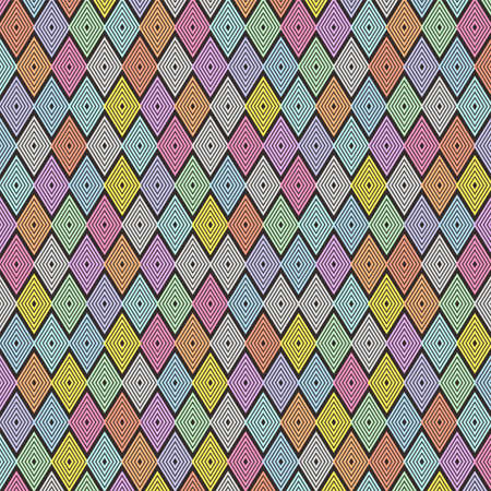 The Dark of Colorful Line Pattern Wallpaper