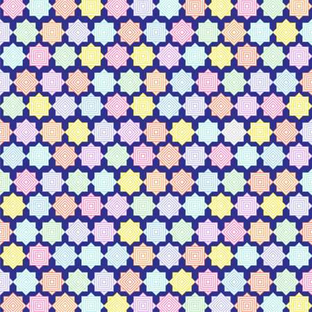 The Best Design and Colorful Pattern Wallpaper in Blue Background Фото со стока