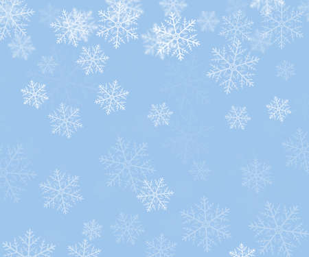 rime: Winter Background with Snowflakes Stock Photo