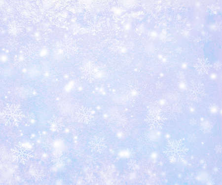 blue star: Winter Background with Snowflakes Stock Photo