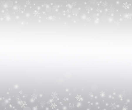 Winter Background with Snowflakes Archivio Fotografico