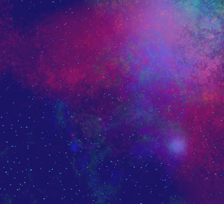 planetarium: deep outer space background with stars and nebula Stock Photo