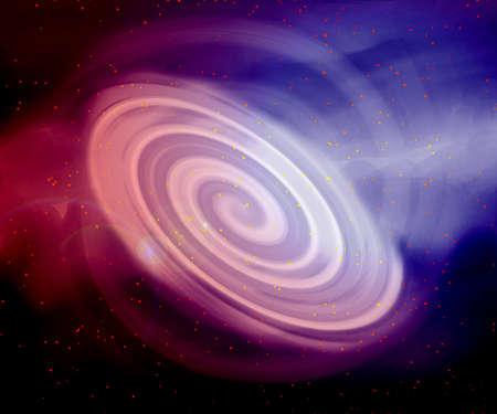 planetarium: Abstract background. Spiral galaxy