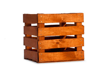wooden crate: Empty wooden crate
