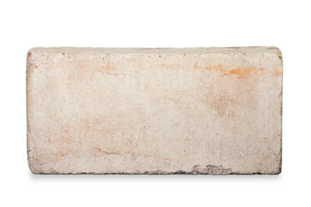 brick: Old red brick isolated on white background