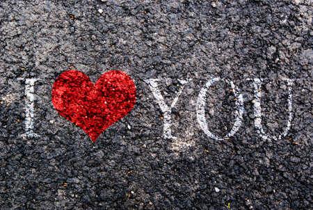 blanche: i love you Written on asphalt