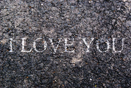 declare: i love you Written on asphalt