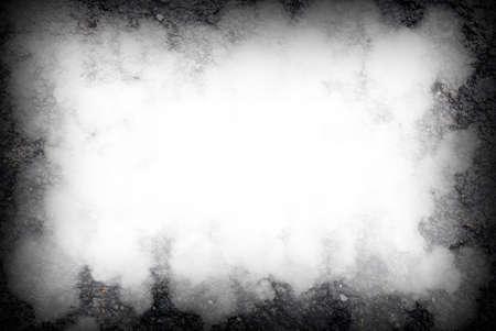 abstracte zwarte achtergrond, oude zwarte vignet grens witte frame grijze achtergrond, Stockfoto