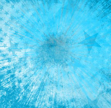 spot lit: Blue background with stars Stock Photo