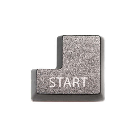 computer key: Computer key black - Start Stock Photo