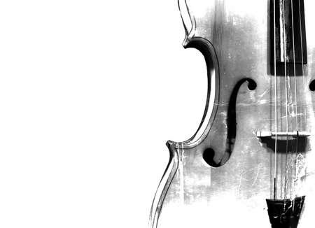첼로 검은 색과 흰색 배경.