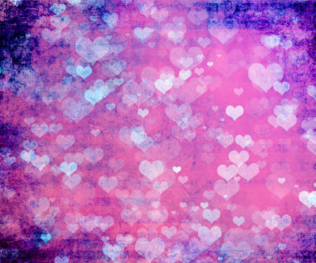 grunge heart: Valentine grunge heart shaped lights background