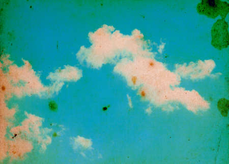 viewfinderchallenge1: Retro sky and clouds background.